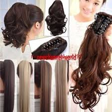 ponytail extension 100 clip in hair extension curly black claw