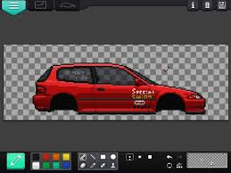 pixel car pixel car racers shingo u0027s eg6 pixel art amino