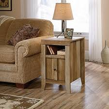 Crafstman by Sauder Dakota Pass Craftsman Oak Storage Side Table 420139 The