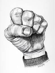 clinched fist hand drawing 100daysofhands pinterest hand