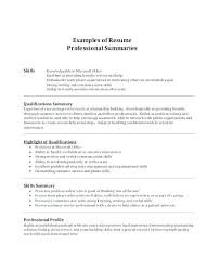 high resume summary exles resume summary for high students template exle of a on