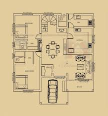 Map of House of three bedrooms and 135 square metres – KERALA HOME