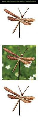 dragonfly garden stakes copper home outdoor decoration