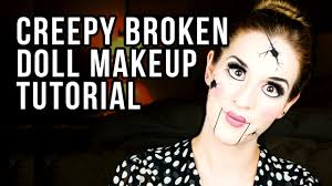 how to do broken doll makeup creepy doll makeup tutorial youtube
