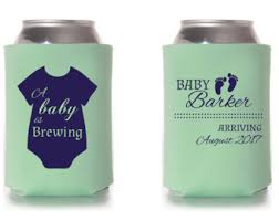 baby shower koozies baby brewing koozies etsy