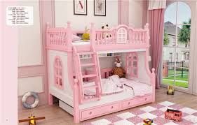 Bunk Beds Pink Pink Bunk Bed Child Pink Furniture Wood Bed In Children Beds