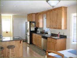 cabinet kitchen paint colors with walnut cabinets natural maple