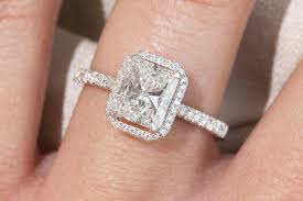 radiant cut engagement ring 1 75 ct radiant cut halo engagement ring juliette collection