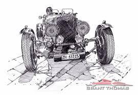 vintage ferrari art ferrari art of grant thomas aston martin vintage racer drawing