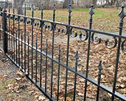 backyard design residential grade iron pool fence with ball cap