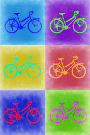 vintage bicycle pop art 2 painting by naxart studio