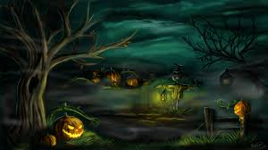 scary halloween desktop background halloween wallpaper and background 1440x810 id 493559