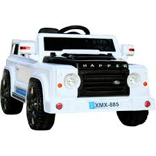 land rover jeep style rebo land rover defender style 12v child u0027s ride on jeep white ebay