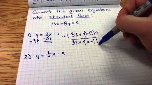 standard form linear equation word problems youtube definition