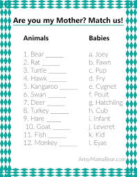 baby for baby shower animal matching baby shower free printable matching