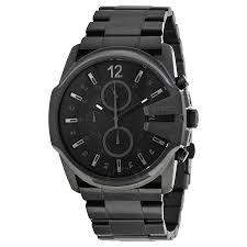 mens black steel bracelet images Diesel master chief black dial black stainless steel bracelet jpg