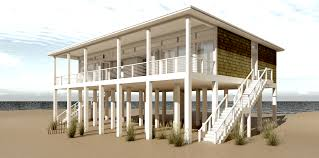 coastal house plans on pilings apartments beach cottage plans plan nc four bedroom beach house