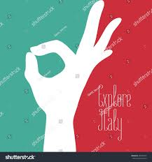 Italain Flag Italy Vector Illustration Italian Flag Colors Stock Vector