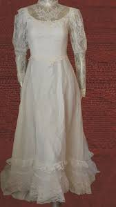 vintage jcpenney fashions wedding dress prairie boho lace s 5 6