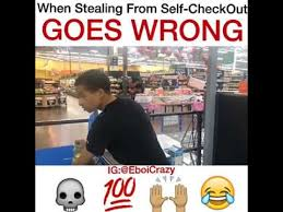Self Checkout Meme - stealing from self checkout goes wrong youtube