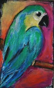 oil pastel parrot oil pastel art realistic pinterest