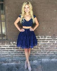 short lace two piece homecoming dresses for 8th grade prom u2013 alinanova