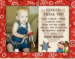 2nd birthday thank you card old west photo horse