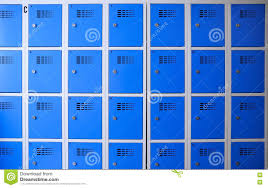 or gym blue metal lockers stock photo image 79530982
