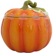earthenware pumpkin cookie jar orange walmart