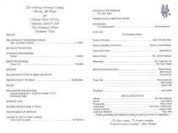 wording on wedding programs wedding program wording sles hnc