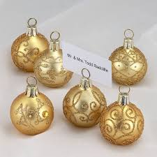 christmas place card holders ball ornaments set of 6 c3874 digs