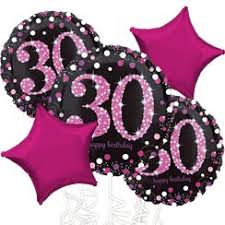 30th birthday balloon bouquets 30th birthday balloons foil number balloons woodies party