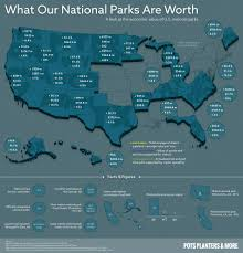 United States National Parks Map by National Parks Are Economic Engines Across America Graphic Shows