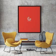 free elegant poster mockup free design resources