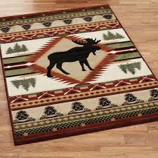 Moose Area Rugs Moose Wilderness Rustic Area Rugs