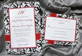 damask wedding invitations black white damask and dot wedding invitations emdotzee