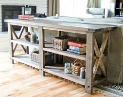 How To Build A Tabletop Jump Out Of Wood by Ana White Rustic X Console Diy Projects