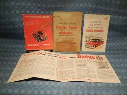 1953 dodge coronet original owners manual information kit with sun