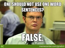 Meme Sentences - one word sentences by gradon meme center
