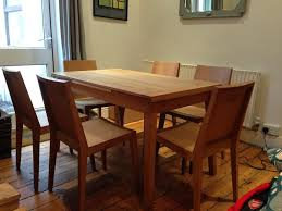 Solid Oak Extending Dining Table And 6 Chairs Habitat Ruskin Solid Oak Extendable Dining Table U0026 6 Chairs In