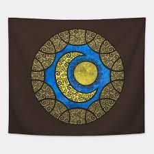 sun moon mandala mandala tapestry teepublic