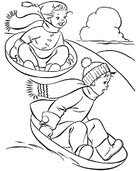 Winter Outdoor Activities Coloring Page Free Printable Winter Coloring Pages Free Printable