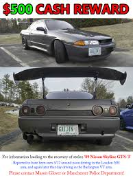 nissan skyline near me nh vt me ma people have you seen this skyline it was stolen