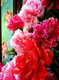 Flower Decoration For New Year by Bright Coloured Decoration Flowers For Chinese New Year Stock
