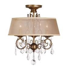 Crystal Flush Mount Lighting Round Gold Flushmount Lights Ceiling Lights The Home Depot