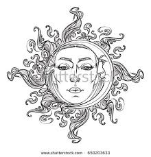 crescent moon face stock images royalty free images u0026 vectors