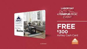 Ashley Furniture Card by Labor Day Tempur Pedic Event Get 8 Years Interest Free Youtube