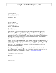 Job Shadowing On Resume by A Letter For A Job Application Summaries Of Essays