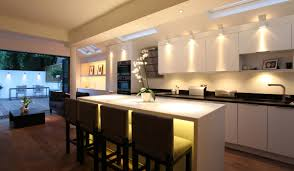 lighting ideas kitchen beautiful kitchen lighting with smart lights and brown floor 3805