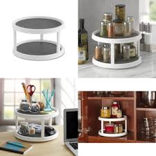 2 tier cabinet organizer kitchen cabinet organizer 2 tier turntable pantry non skid surface